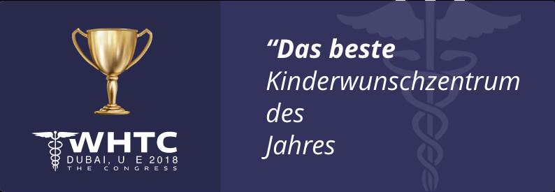 """""""Das beste Kinderwunschzentrum des Jahres"""""""