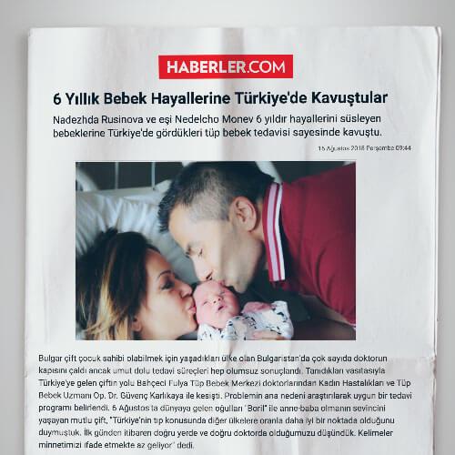 6 Yıllık Bebek Hayallerine Türkiye'de Kavuştular