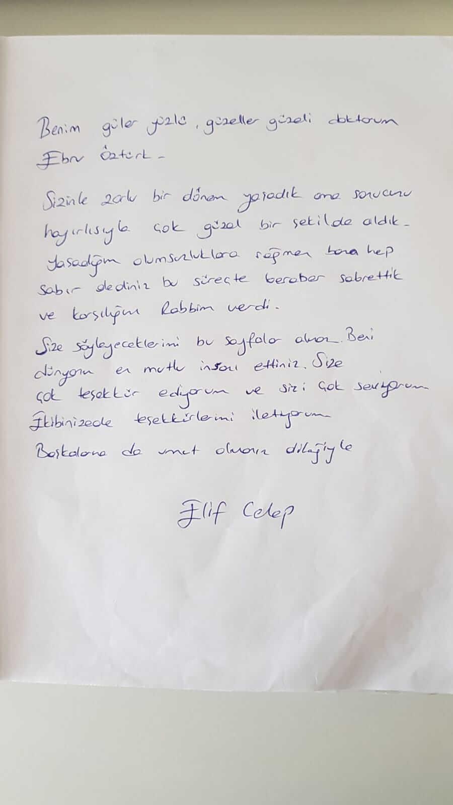 Benim Güler Yüzlü Güzeller Güzeli Doktorum Ebru Öztürk