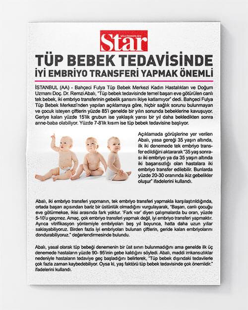 Tüp Bebek Tedavisinde İyi Embriyo Transferi Yapmak Önemli