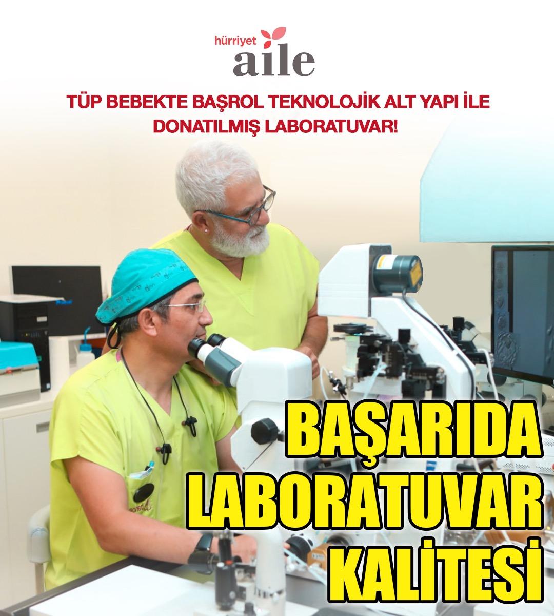 Tüp Bebek Tedavisinde Başrol Oyuncusu Teknolojik Alt Yapı ile Donatılmış Laboratuvar