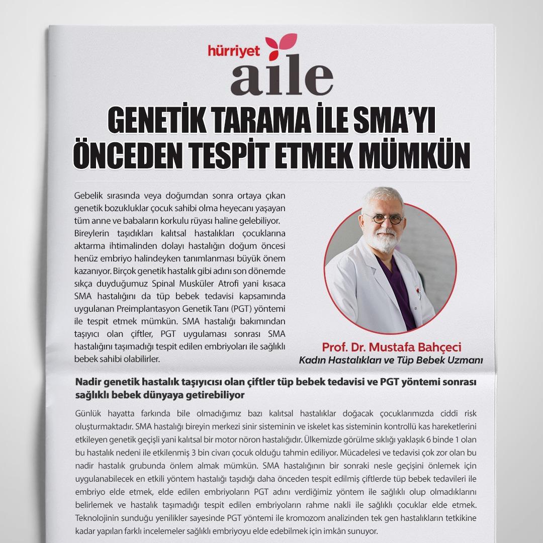 Genetik Tarama ile SMA'yı Önceden Tespit Etmek Mümkün